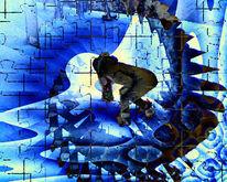 Kraft, Kälte, Digitale kunst, Abstrakt