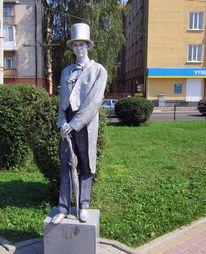 Statue, Stadt, Mann, Kostüm
