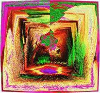 Abstrakt, Mittelpunkt, Welt, Digitale kunst