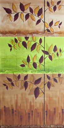Baum, Stadt, Menschen, Wachstum