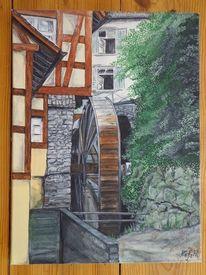 Acrylmalerei, Gemälde, Bauwerk, Schönheit