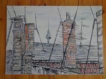Gemälde, Dach, Acrylmalerei, Malerei
