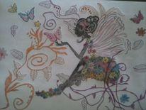 Buntstiftzeichnung, Zeichnungen, Welt,
