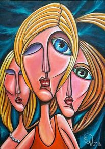 Frau, Augen, Blond, Mädchen