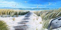 Idylle, Wasser, Schilf, Sand