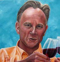 Urlaub, Malerei, In vino veritas, Portrait