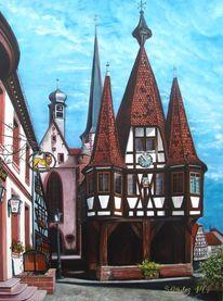Turm, Fachwerk, Rathaus, Tourismus