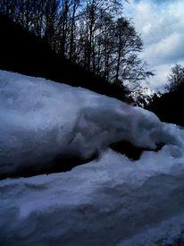 Schnee, Alpen, Abend, Winter
