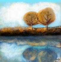 Atmosphäre, Natur modern, Digitale kunst, Herbst