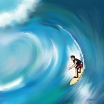 Meer, Sport, Perfekte welle, Surfen