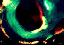 Schwarz, Loch, Abstrakt, Abstrakte kunst