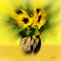 Digitale kunst, Blumen, Digital, Sonnenblumen