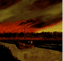 Landschaft, Nacht, Ostsee, Meer