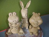 Frosch, Esel hamster, Plastik, Freunde