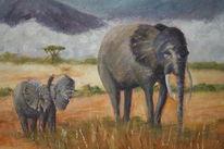 Korbach, Landschaft, Kilimandscharo, Malerei