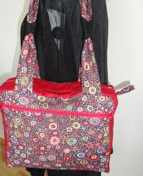 Rot schwarz, Unikattasche, Kaffe fassett, Kunsthandwerk