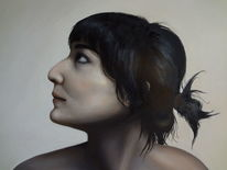 Ölmalerei, Frau, Akt, Malerei