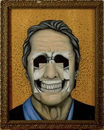 Surreal, Malerei, Inneres, Lächeln