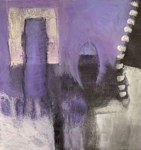 Abstrakt, Stark, Schwarz, Malerei