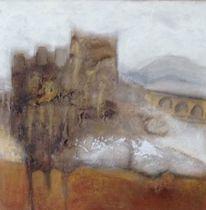 Burg, Brücke, Schottland, Malerei