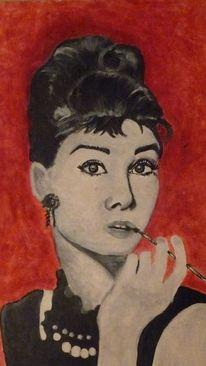 Acrylmalerei, Portrait, Malerei