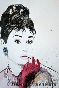 Audrey hepburn gemälde, Schauspieler, Kunst kaufen, Frauen portrait