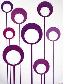 Muster, Modern, Violett, Abstrakt