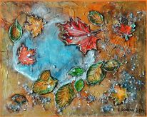 Regen, Bunt, Laub, Blätter