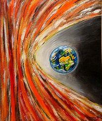 Weltall, Sonne, Malerei, Universum