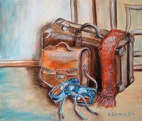 Bunt, Acrylmalerei, Reise, Schuhe