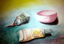 Küche, Lebensmittel, Tuba, Pastellmalerei