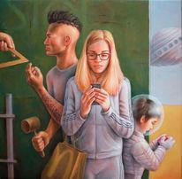 Außerirdischen, Orange, Jesus, Falten