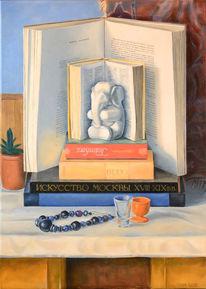 Realismus, Ölmalerei, Gelb, Blau