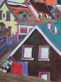 Dorf, Fenster, Stadt, Straße