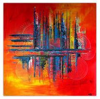 Acrylmalerei, Gemälde, Wandbild, Gelb