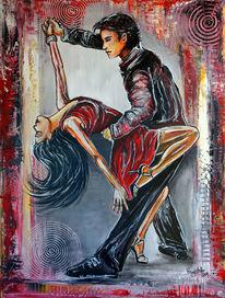 Salsa, Kunst bild, Tanzpaar, Tänzer gemälde