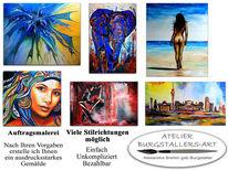 Aktmalerei, Auftragsmalerei, Abstrakte kunst, Tiere