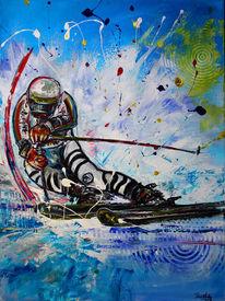 Geschenk, Skifahren, Abstrakte gemälde, Deutsch