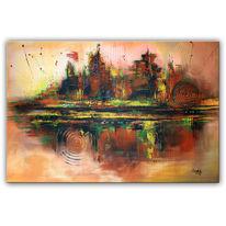 Braun, Abstrakte kunst, Wandbild, Acrylmalerei