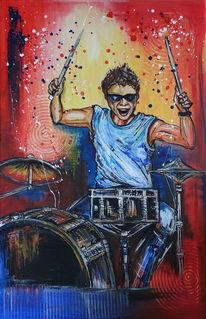Malen, Trommel, Acrylmalerei, Musiker