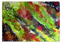 Abstrakte kunst, Pouring, Malen, Malerei