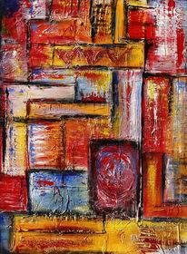 Wandbild abstrakt, Acrylmalerei, Malerei, Bunt
