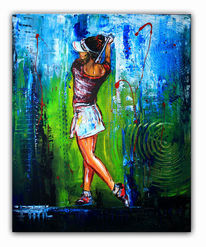 Gemälde, Wandbilder, Struktur, Golfspiel