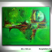 Grün, Acrylmalerei, Modern, Abstrakt