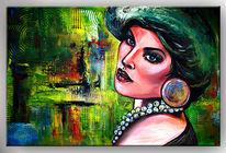 Gemälde, Retro portrait, Malerei, Gesicht