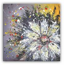 Margerite, Blumen, Abstrakt, Moderne malerei