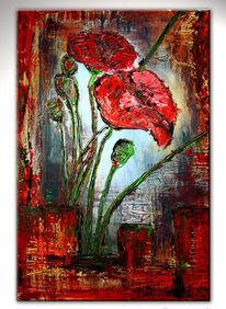 Blumen gemälde, Acrylmalerei, Abstrakte malerei, Blumenmalerei