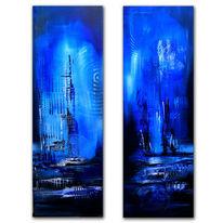 Malerei, Moorlandschaft, Acrylmalerei, Abstrakt