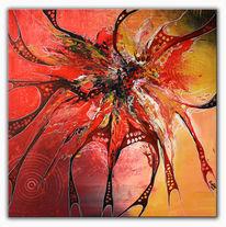 Gemälde, Acrylmalerei, Malen, Abstrakte kunst