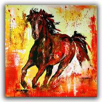 Pferde, Abstrakt, Gemälde, Tier malerei gemälde